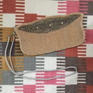 Vintage Beaded Clutch Wristlet